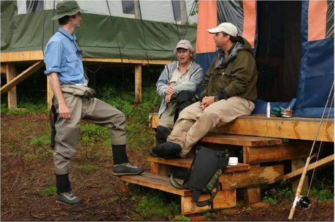 рыбалка на Кольском полуострове, реке Йоканьга, палаточный лагерь