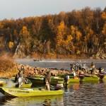 Кольский полуостров река Поной лагерь Рябога.