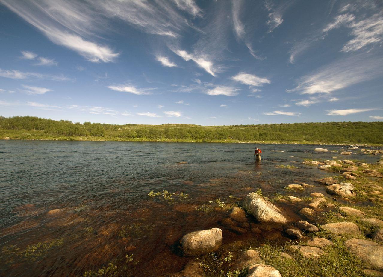 Рыбалка на Кольском полуострове, реке Йоканьга
