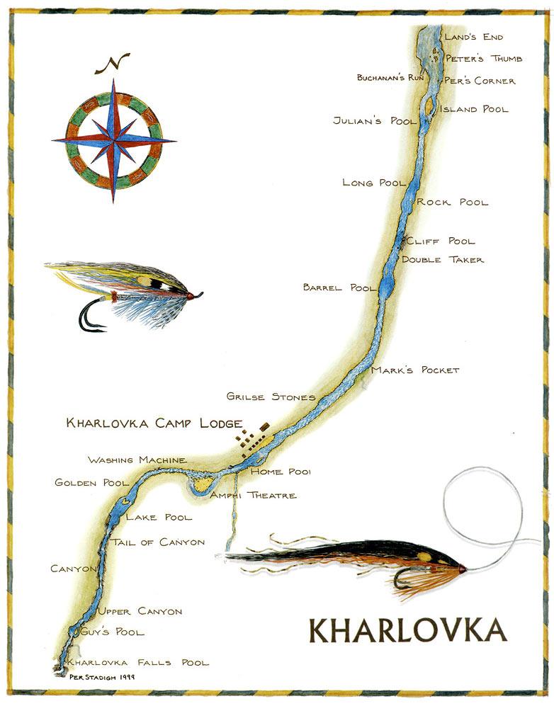 карта реки Харловка