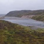нижний участок реки Харловка. У моря.