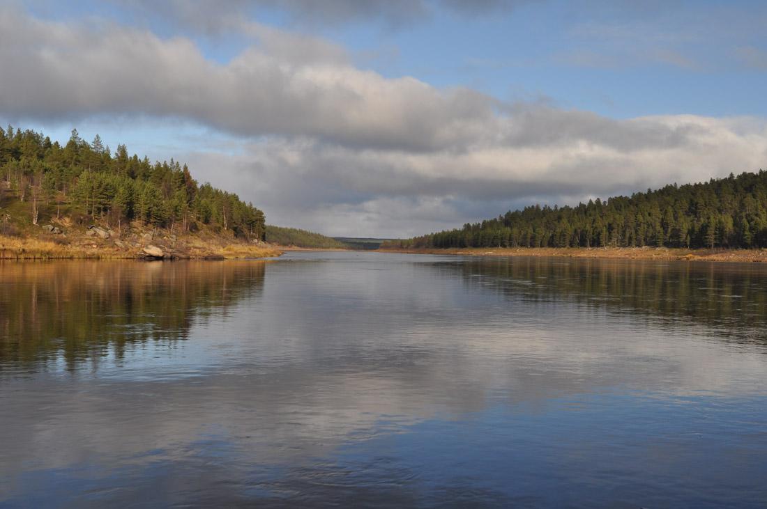 рыбалка на Кольском, река Поной, лагерь Пача