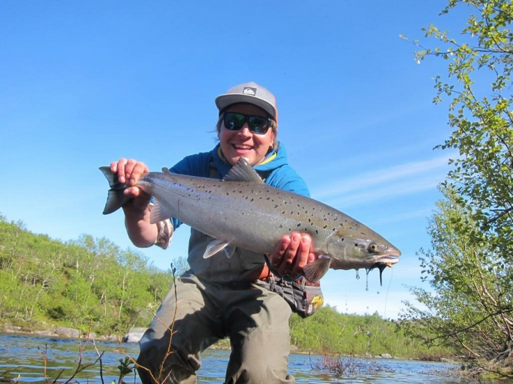 Рыбалка на Кольском полуострове, реке Белоусиха 12