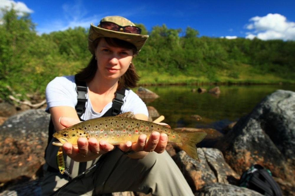 Рыбалка на Кольском полуострове, реке Белоусиха 13
