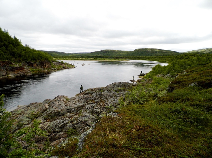 Рыбалка на Кольском полуострове, реке Белоусиха 2