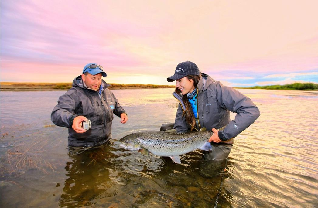 рыбалка в Аргентине. морская кумжа Рио Гальегос.