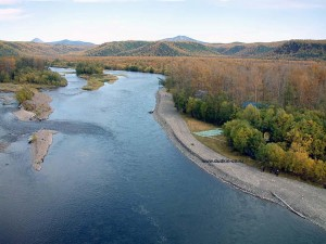 рыбалка на Камчатке, реке Жупанова, лагерь Кедровая